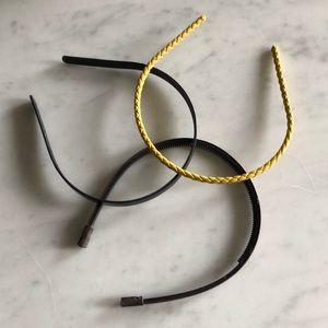 Bundle of 3 leather headbands